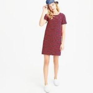 J. Crew Red and Navy T Shirt Dress #C6514